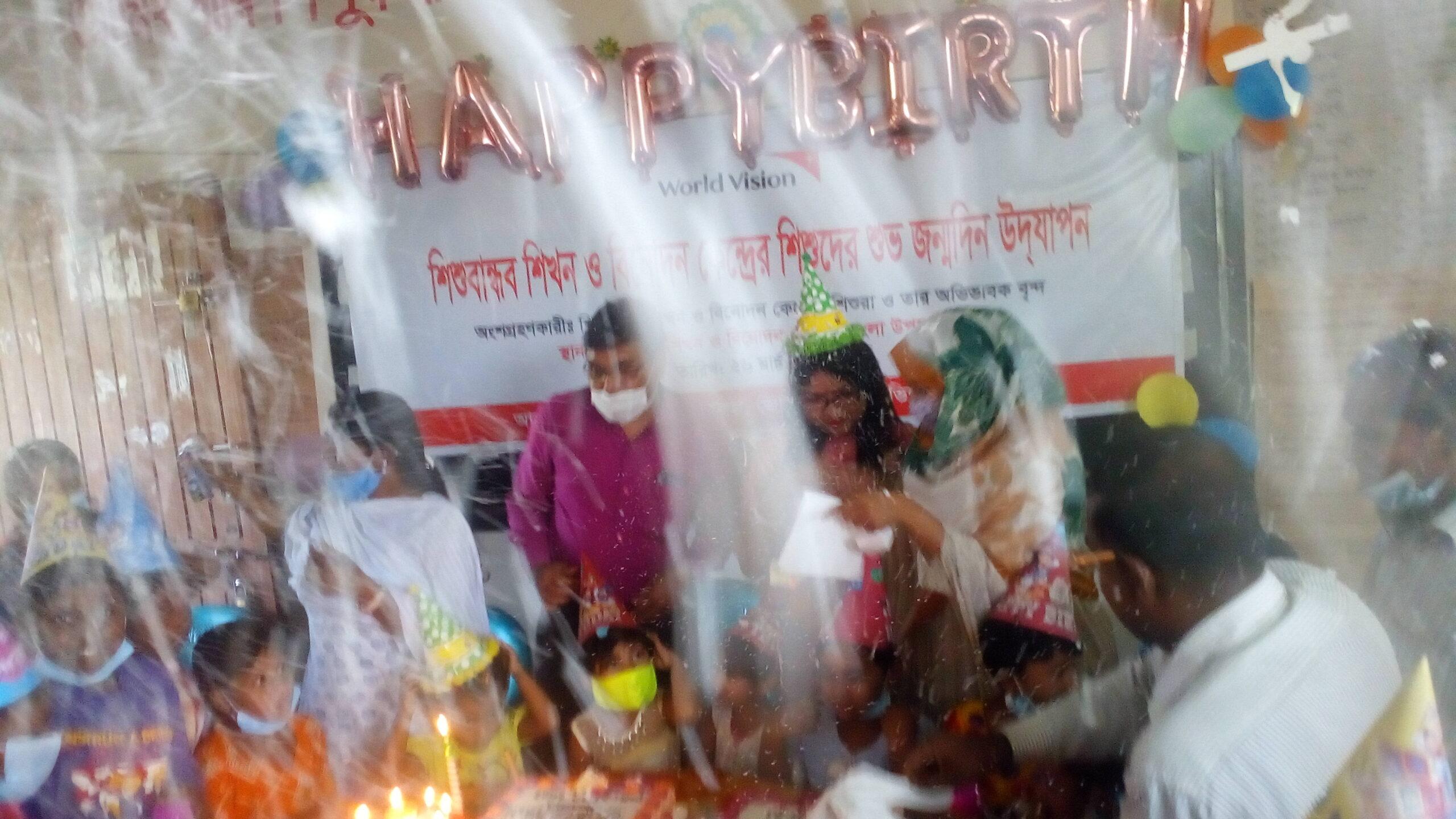 মোংলায় নতুন কলি শিশু বান্ধব কেন্দ্রের শিশুদের জন্মদিন পালন।